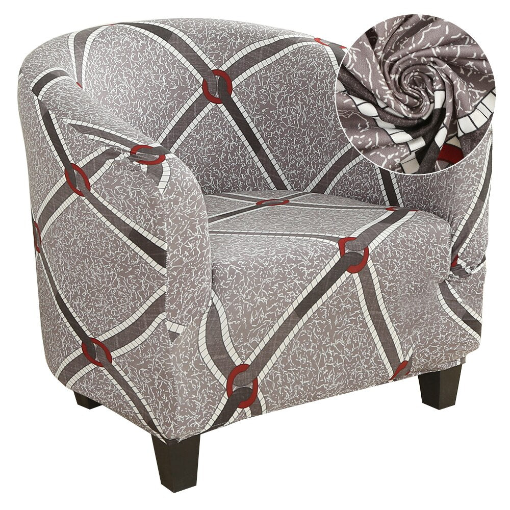 Elastic Tub Chair Cover Armchair Sofa Cover Home Polyster Furniture Slipcover Protector Skin-friendly Single Seat Cover Couch 1 Seat Cover