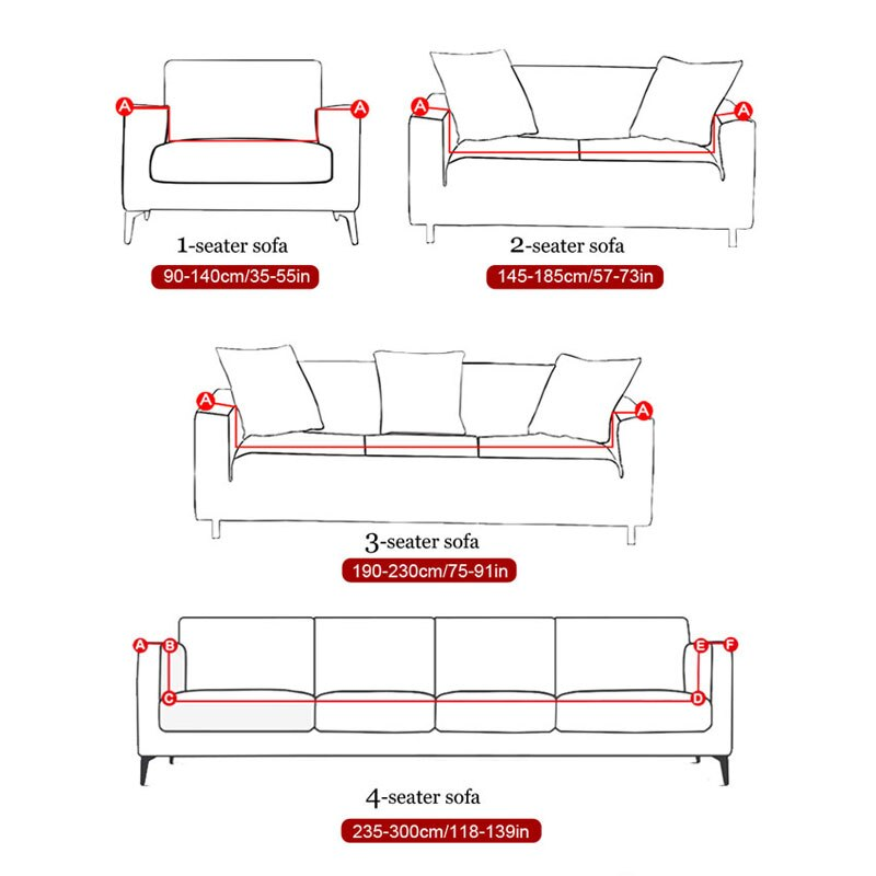 L Shape  Corner Sofa Cover Elastic Printed Cover for Sofa Slipcovers Stretch 1/2/3/4 Seat Stretch Sectional Corner Couch Cover Universal Cover