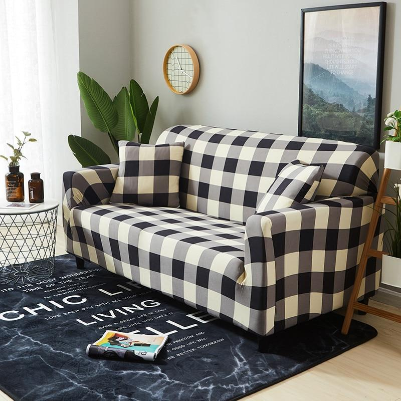 Solid Color Modern Elastic Sofa Cover for Living Room Sectional Corner Armchair Covers Sofa Slipcover Chair Protector Couch Cover 1/2/3/4 Seater - HomeSofaCover