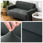 Velvet High Quality Sofa Covers Armchair Solid Sectional Sofa Loveseat Cover Elastic L Shaped Couch Cover 1/2/3/4 Seater Decor Fundas Sofa Slipover