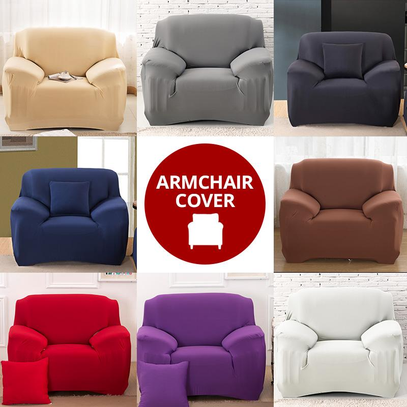 Stretch Armchair Cover Armchair Stretch Sofa Cover Living Room Single Seater Furniture Couch Armchairs Slipcovers Armrest Couch Covers - HomeSofaCover