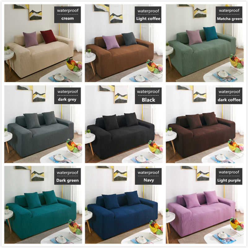 All-inclusive Waterproof Sofa Cover Universal Waterproof Couch Covers Solid Color Elastic Slipcover Non-slip Full Wrap Sofa Seat Covering - HomeSofaCover