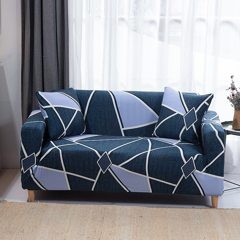 String Printed Sofa Covers Elastic Stretch Slipcover Sectional Settee Corner Sofa Protector L-style Sofa Covers Cushions 1/2/3/4-seater Couch Cover