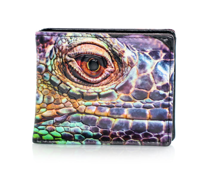 Iguana Men's Bifold Wallet, Black