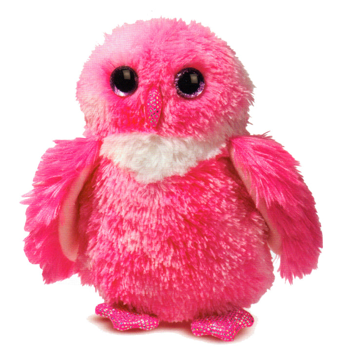Blinky Pink Owl 8 inch - Stuffed Animal by Douglas Cuddle Toys (4131)