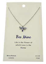 Shagwear Bee Mine Pewter Necklace