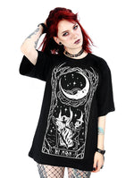 Witches Chant Gothic Women's Oversized T-Shirt, Black, XS