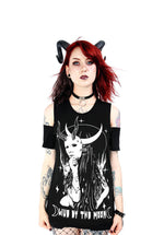 Live by the Moon Cold Shoulder Gothic Shirt