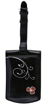 Shagwear Woodland Fairy Faux Leather Luggage Tag, Black
