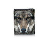 Shagwear Portrait of a Wolf Women's Small Zipper Wallet, Black
