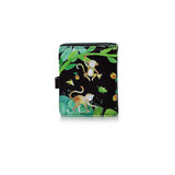 Shagwear Jungle Monkey Small Zipper Wallet, Black