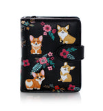 Corgi Pattern Small Zipper Women's Wallet