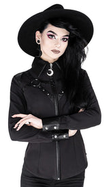 Harness Gothic Shirt with Faux Leather Straps