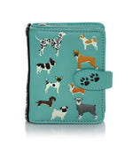Shagwear DogsDogsDogs Small Zipper Women's Wallet, Teal