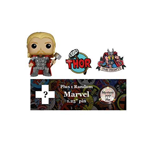 Marvel Heroes Bundle: Thor Funko Pop!, Patches, and Random Pin