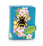 Bumblebee Tattoo Small Zipper Women's Wallet