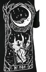 Witches Chant Gothic Women's Cold Shoulder Gothic T-Shirt, Black