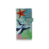 Shagwear Blue Whale Large Zipper Women's Wallet, Mint