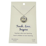 Shagwear Teach, Love, Inspire Pewter Necklace