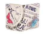 Shagwear Vintage Time Piece Small Zipper Women's Wallet, Cream