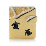 Baby Turtles Small Zipper Woment's Wallet, Cream