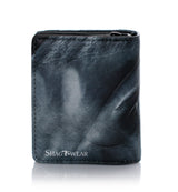 Shagwear Horse Portrait Small Snap Wallet, Black