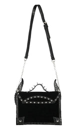 Gothic Diabolic Horns and Spikes Black Purse