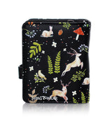 Shagwear Rabbits and Deer Small Zipper Wallet, Black