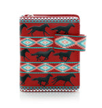 Western Horse Small Zipper Women's Wallet