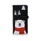 Shagwear True North Polar Bear Large Zipper Wallet, Black