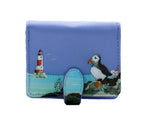 Puffin Small Zipper Women's Wallet, Blue