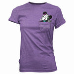 POP Tees: Disney - Gamer Minnie Pocket Women's Shirt, Purple, Small