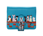 Cats in a Row Small Zipper Women's Wallet