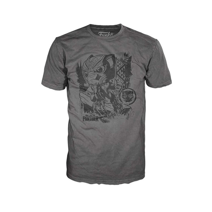 Funko Pop! Tees: Black Panther Jungle Gray Unisex T-Shirt