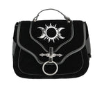 Triple Goddess Crescent Moon and Sun Gothic Bag