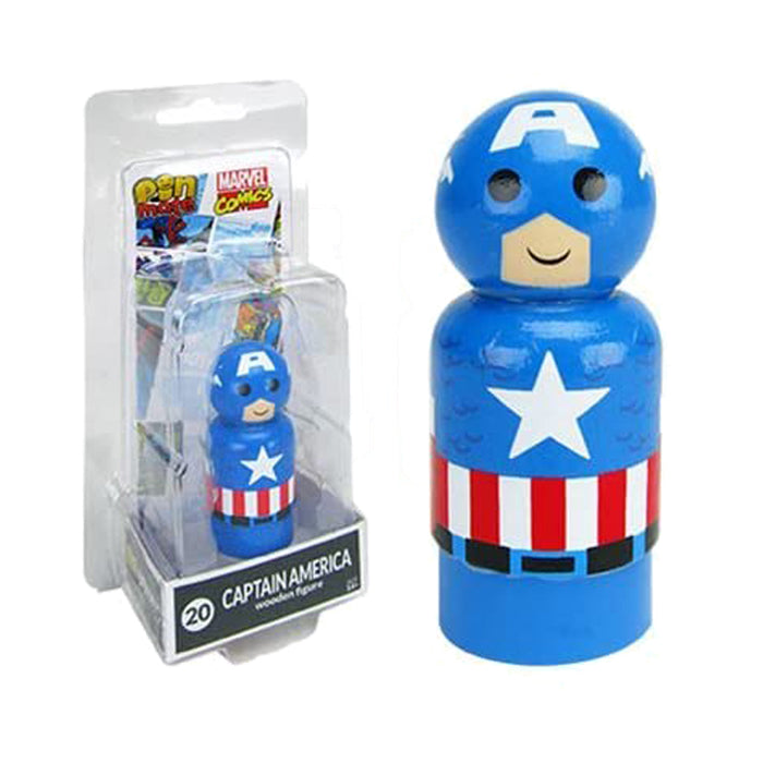 Marvel Captain America Wooden Pin Mate Figure #20