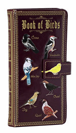 Shagwear Book of Birds Large Zipper Bi-Fold Wallet, Purple