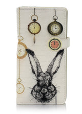 Shagwear Pocket Watch Rabbit Large Zipper Wallet, Cream