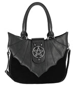 Gothic Ominious Pentagram Bat Wings Bag