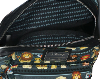Loungefly Disney Lion King Chibi Characters Tribal AOP Fashion Backpack