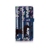Shagwear Forest Horse Large Zipper Women's Wallet, Blue