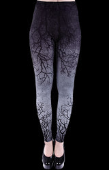 Restyle Purple, Gray, Ombre Branch Leggings