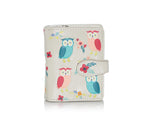 Shagwear Owl Garden Small Zipper Women's Wallet, Cream