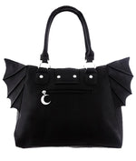 Elegant Goth Moon Bat Bag