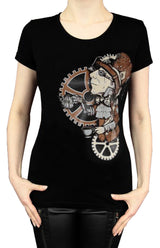 Steampunk Mad Hatter Tank Top, Black, XS