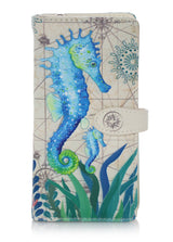 Shagwear Sea Horse Large Zipper Wallet, Cream