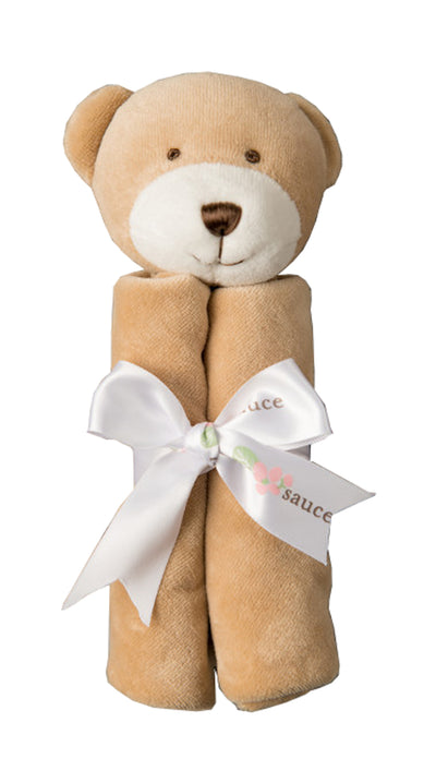 Applesauce Animal Baby Banky, Teddy Bear 11 x 11 inches