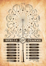Harry Potter-Spells and Charms MightyPrint Wall Art