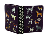 Shagwear DogsDogsDogs Small Zipper Women's Wallet, Purple