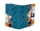 Shagwear Kitty Crowd Small Zipper Wallet, Teal